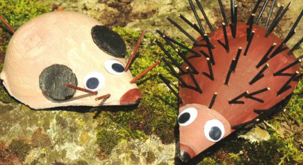 осенние поделки животных своими руками для детского сада