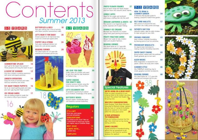 Summer 2013 contents pages