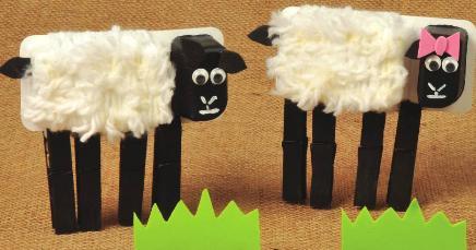 how to make a model sheep