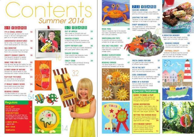 CreativeSteps_Summer2014_ contents