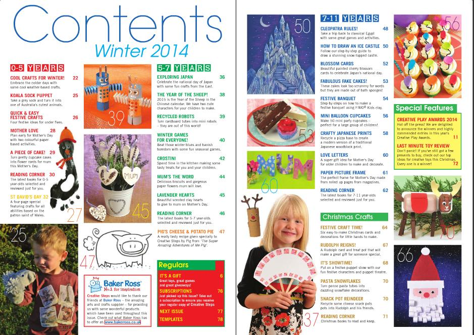 Winter 2014 Contents pages