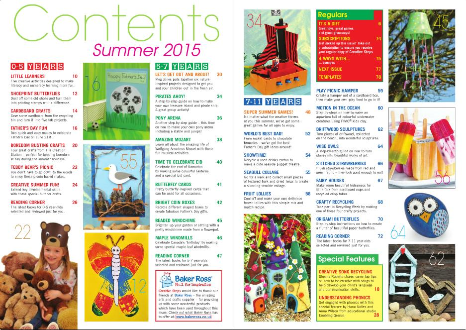 Summer 2015 issue contents