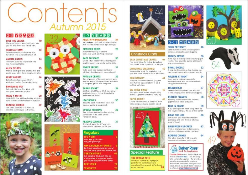 CreativeSteps Autumn2015 contents