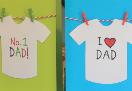 Father's Day t-shirt cards 2016
