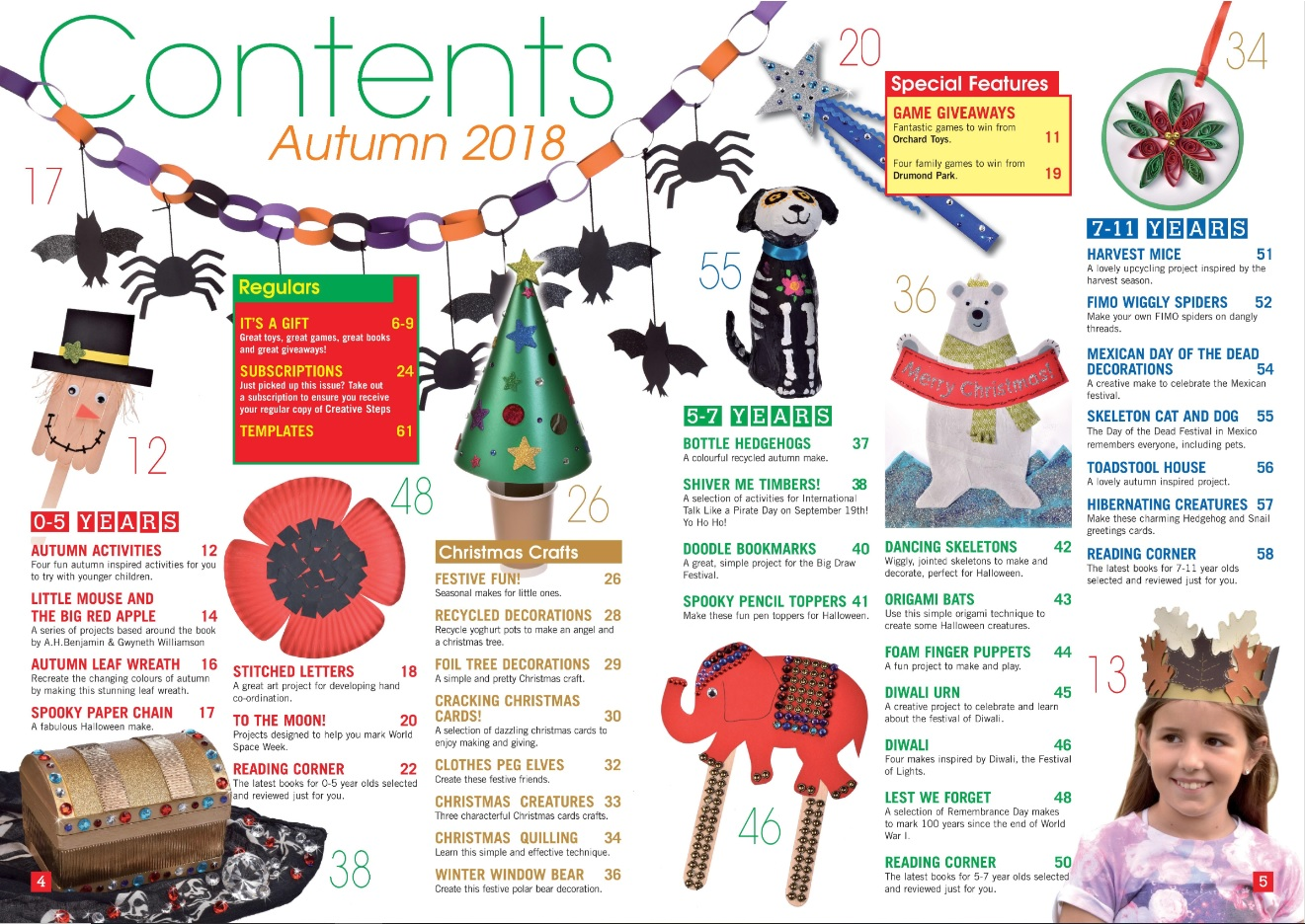 Creative Steps Autumn 2018 (Issue 59)'s contents