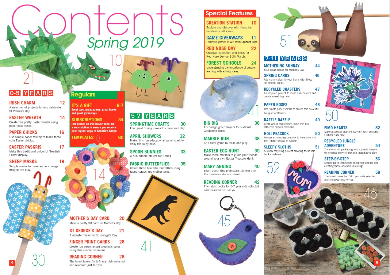 Creative Steps Spring 2019's contents