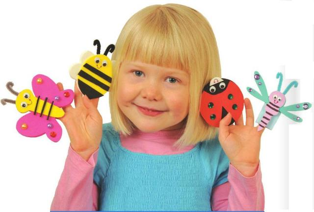 Fly Away Finger Puppets